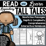 Tall Tales Read and Learn With Comprehension Activities