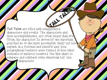 Common Core Tall Tales Characters Analyze Grid