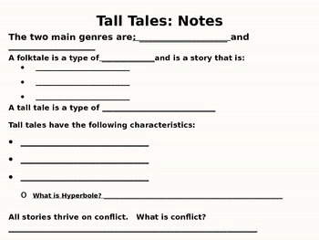Tall Tales Close Read Unit: Paraphrasing and Summarizing P
