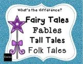 Tall Tales, Fairy Tales, Folk Tales, Fables