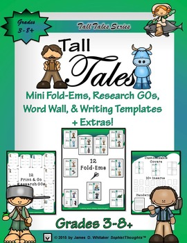 Tall Tales Mini Analysis and Research Fold-Ems and Activities