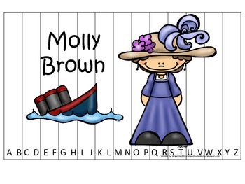 Tall Tales Molly Brown themed Alphabet Sequence Puzzle.  Preschool learning game