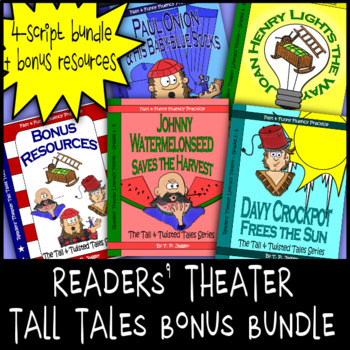 Tall Tales Readers Theater-Davy Crockett-Johnny Appleseed-John Henry-Paul Bunyan