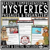 Digital Mystery Reading Passages & Questions Graphic Organizers Google Slides