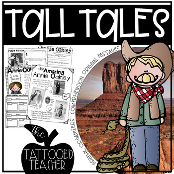 Tall Tales Reading Unit (includes passages, organizers, writing, and more)!