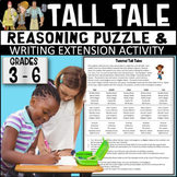 Tall Tales Reasoning Puzzle w/ Creative Writing Extension (Grades 3-6)