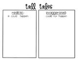 Tall Tales T-Chart