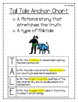 Tall Tales Unit Common Core Aligned