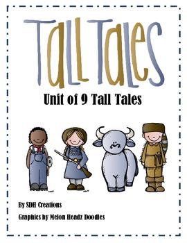 #BTSBlackFriday Tall Tales Unit (Folktales):using 9 Tall Tales