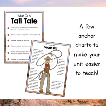 Tall Tales Unit Pecos Bill By Simply Schoolgirl Tpt