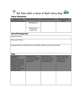 Tall Tales with a Twist of Myth Story Map