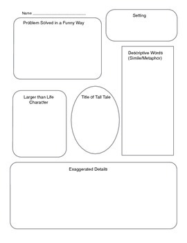 Tall Tales writing graphic organizer