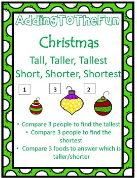 Tall, Taller, Tallest & Short, Shorter, Shortest ~ Christmas Measurement