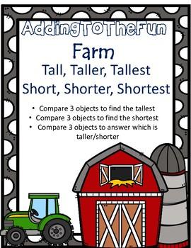 Tall, Taller, Tallest & Short, Shorter, Shortest ~ Farm Measurement Worksheets