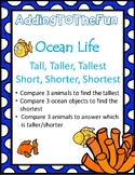 Tall, Taller, Tallest & Short, Shorter, Shortest ~ Ocean Measurement Worksheets