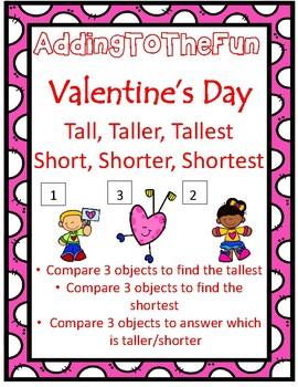 Tall, Taller, Tallest & Short, Shorter, Shortest ~ Valentine's Day Measurement