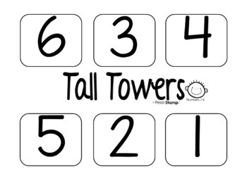 Tall Towers- Numbers 1-10- Number Recognition- Simple Addition and Subtraction