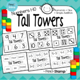 Tall Towers- Numbers 1-10- Number Recognition- Simple Addi