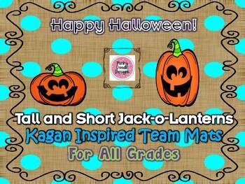 Tall and Short Jack-o-Lanterns Kagan Inspired Team Mats