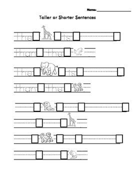 Tall and Short Sentences