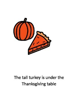 Tall and Short Turkey Preposition Book