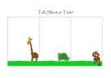 Tall, short or tails handwriting poster