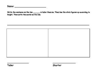Taller Shorter Worksheet