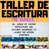 Taller de escritura :Writing Bundle Complete in Spanish unit 1-4(2018-2019)
