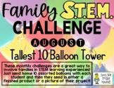 Tallest 10 Balloon Tower - Family STEM Challenge