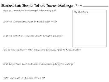 Tallest Tower: Engineering Challenge Project ~ Great STEM Activity!