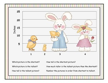Tallest or Shortest? Happy Easter Thematic Measurement Activity