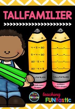 Tallfamilier - Redigerbare og ferdiglagde oppgavekort