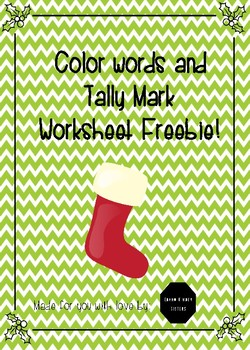 Tallies and Color Word Stocking Worksheet