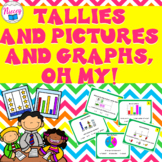 Graphs Task Cards - Bar Graphs, Pictographs, Pie Graph, & Tally Chart