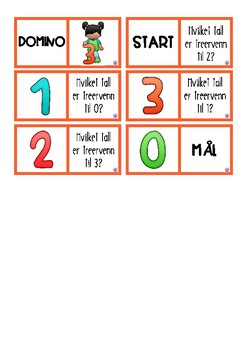 Tallvenner til 1-10 norsk version