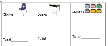 Tally Around the Classroom- K-3