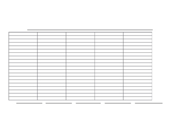 Tally Chart, Bar Graph, Picture Graph Template