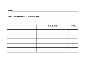 Bar Chart Template | Tally Chart Bar Graph Picture Graph Template By Math Medic Tpt