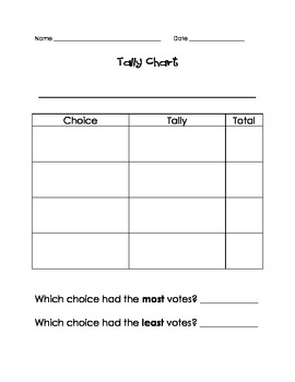 Tally chart template by kristina farley teachers pay for Data analysis template for teachers