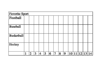 Tally Chart and Bar Graphs Favorite Sport and Color