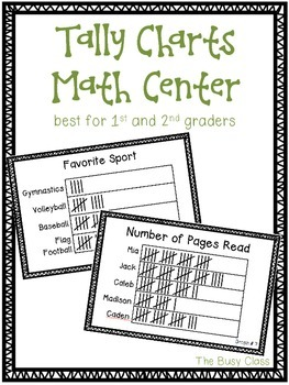 Tally Charts Math Center (1st-2nd)