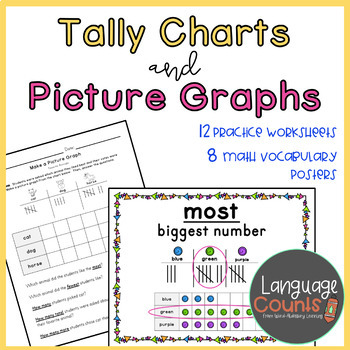 Tally Charts and Picture Graphs 1st Grade Worksheets and Vocab- enVision Topic 6