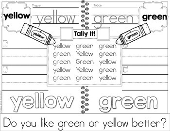Tally It! Color Word FREEBIE Edition