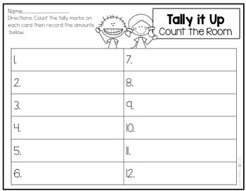 Write the Room-Tally Marks