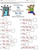 Tally Mark Chart Game Seatwork Fun Rhyme
