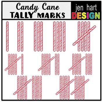 Christmas Tally Mark Clip Art ~ Candy Canes ~ 1-10