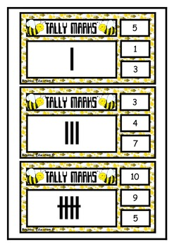 Tally Mark Clip Cards