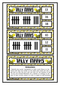 Tally Mark Clip Cards