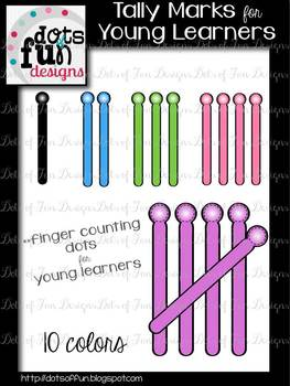 Tally Mark Clip art for Young Learners