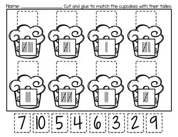 Tally Mark Cupcake Match Printable *Freebie!*